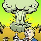 Vault Boy - Mushroom Cloud Mock Poster by DILLIGAFM8