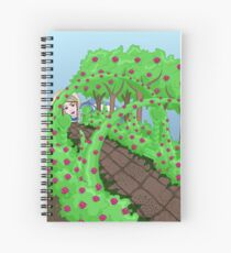 Alice Looking in the Garden Spiral Notebook