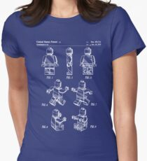 Lego Man Patent - Lego Bricks Art - Blueprint Women's Fitted T-Shirt