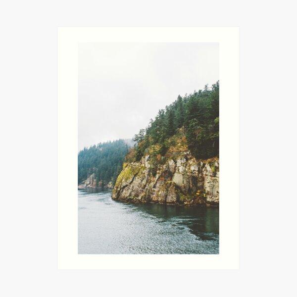 Ferry to Victoria, BC Art Print