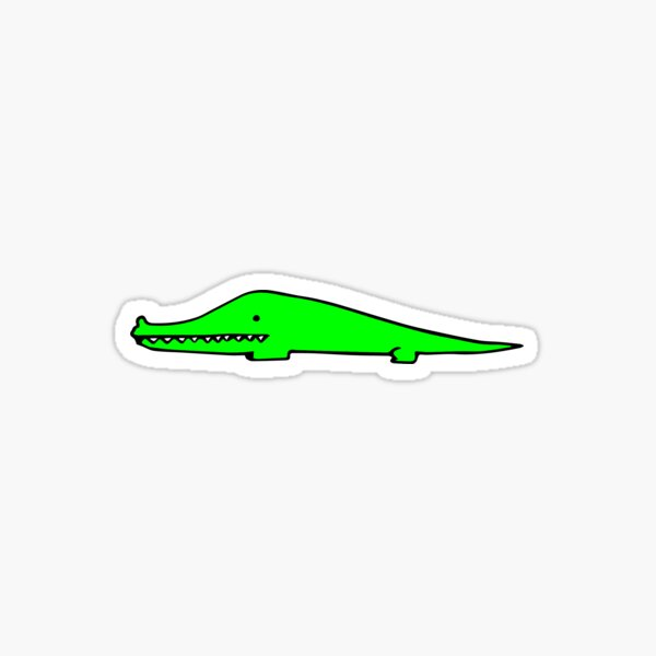Lime Green Gator Boi Sticker