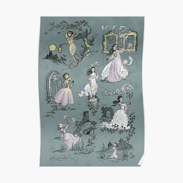 Girls Running From Houses Poster