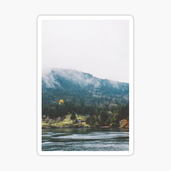 Foggy Vancouver Island Sticker