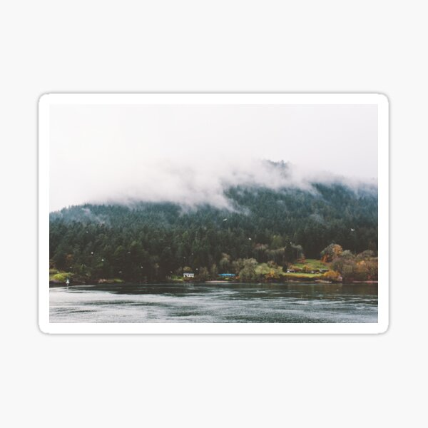 Foggy Vancouver Island, BC Sticker