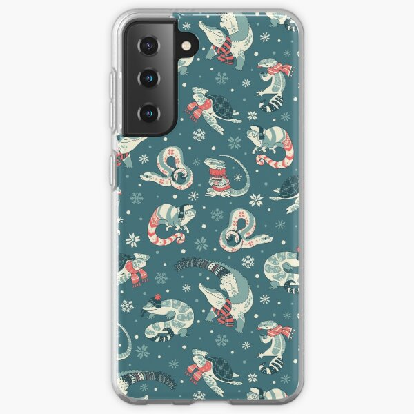 Winter herps in dark blue Samsung Galaxy Soft Case