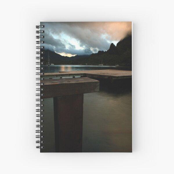 Cooks Bay Evening, Moorea Spiral Notebook