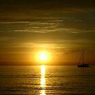 West Beach Sunset by Paula McManus