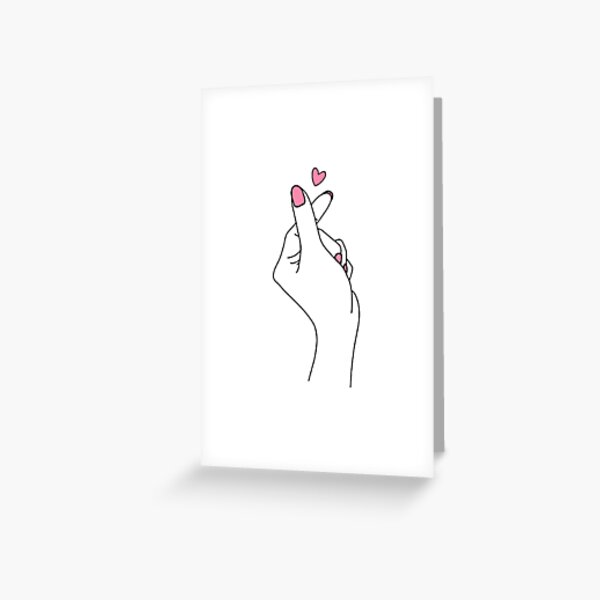 Cute Kpop Hand Greeting Card
