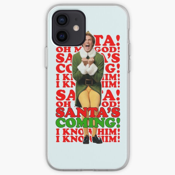 the Elf Christmas Santa's coming  iPhone Soft Case