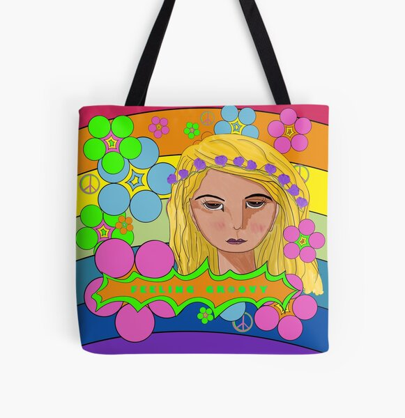 Flower Power Feeling Groovy All Over Print Tote Bag