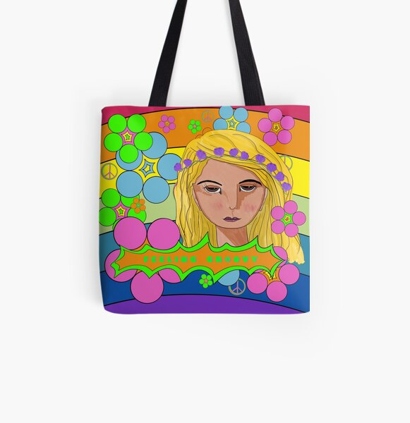 Flower Power Feeling Groovy All Over Print Tote Bag