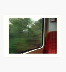 Commuter view of Surrey Art Print