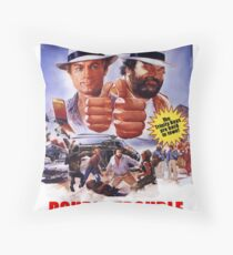 Bud Spencer & Terence Hill T Shirt, Vintage 1984 Original Throw Pillow