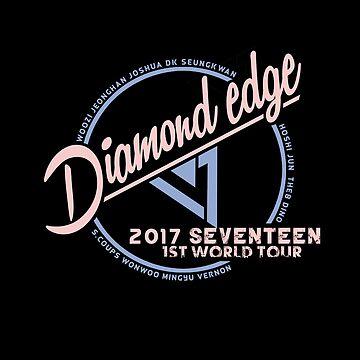 KPOP 2017 SEVENTEEN WORLD TOUR DIAMOND EDGE TSHIRT/ HOODIE/ CASE/  by LySaVN