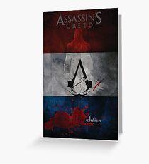 Assassins Creed Unity Minimal Poster Greeting Card