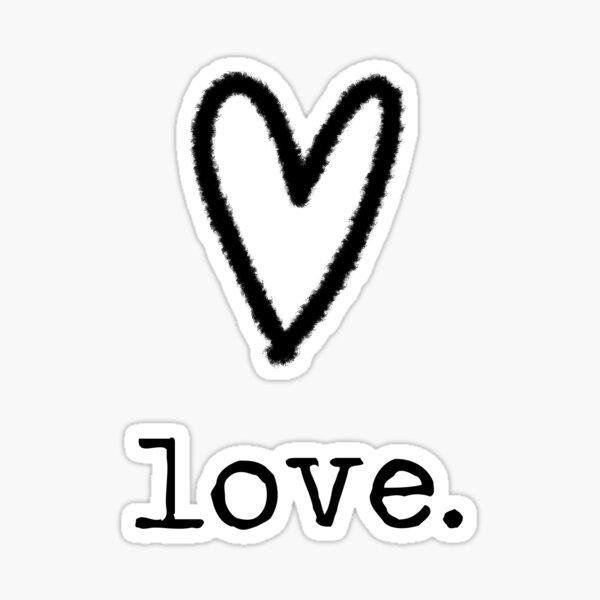 love minimalist ink design Sticker