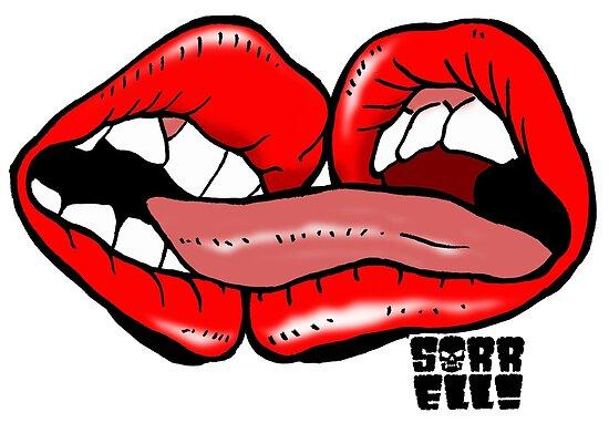 Beißende Lippen von Jason Sorrell