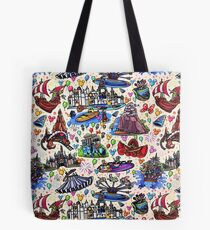 Attractions of Magic Land Tote Bag