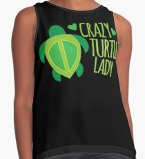 Crazy Turtle Lady Contrast Tank
