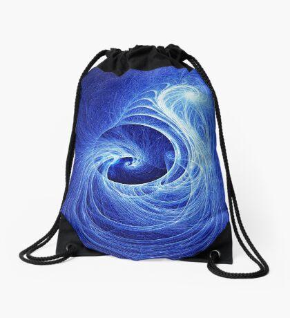Abstract Full Moon Waves Drawstring Bag