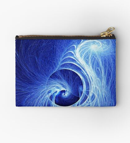 Abstract Full Moon Waves Zipper Pouch