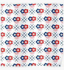 Seamless pattern with buttons. Sewing, needlework Poster