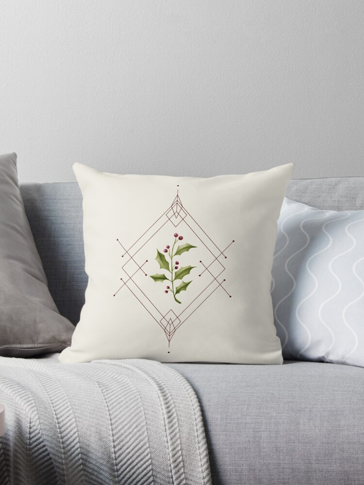 Minimal Holly Jolly #redbubble #xmas by designdn