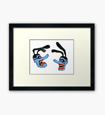 Yellow submarine, Blue meaniens Framed Print