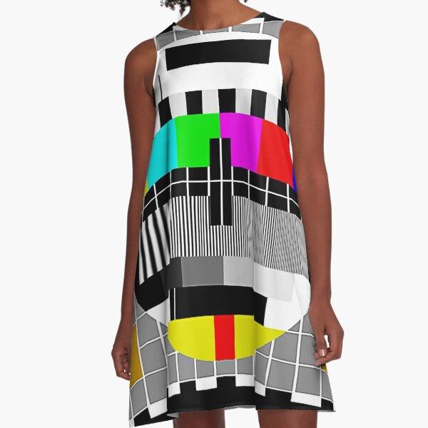 Retro TV (Prøvebildet) A-Line Dress