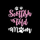 Scottish fold cat mom mum with cute paws by jazzydevil