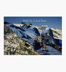 Bottle In A Jean Knee Photographic Print