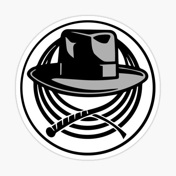 Logotipo de Indiana Jones Hat & Whip Pegatina