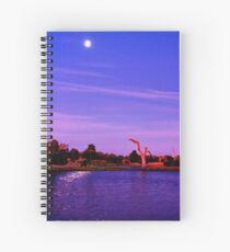 """Moonlight Over Minya"" Spiral Notebook"