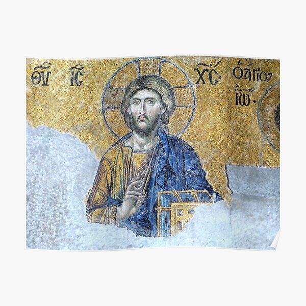 Jesus Pantocrator, Hagia Sophia Poster