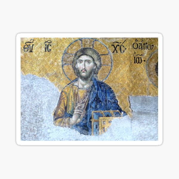 Jesus Pantocrator, Hagia Sophia Sticker
