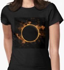 Total Eclipse of the Sun Women's Fitted T-Shirt