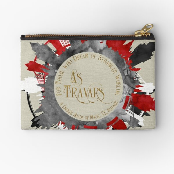 As travars. For those who dream of stranger worlds. A Darker Shade of Magic. Zipper Pouch