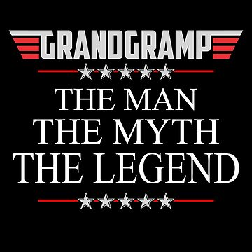 Grandgramp The Man The Myth The Legend Father's day xmas gift by BBPDesigns