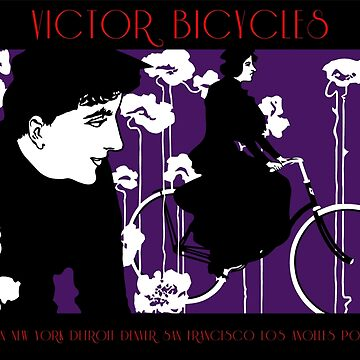 Modern dark art nouveau, American cycling ad  by aapshop