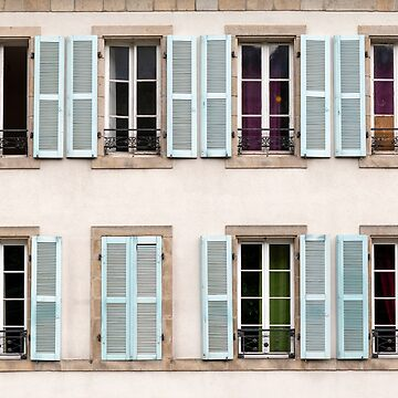 Eight Window Shutters Open and Closed by MarkUK97