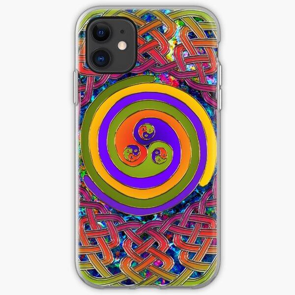Spirals - Celtic Mandala iPhone Soft Case
