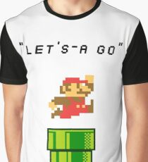 Lets-a go! Mario Graphic T-Shirt