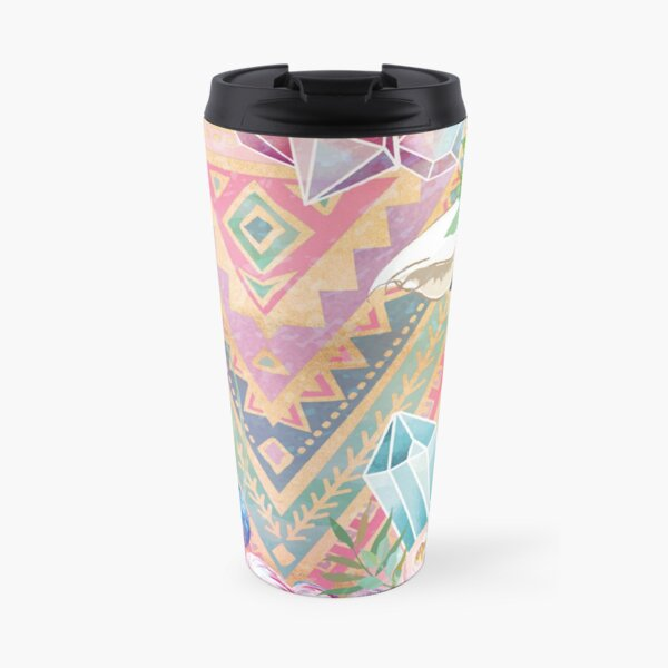 Vintage Boho Alpacas for Makers, Crafters, Knitters, Crocheters, all crafts. Travel Mug