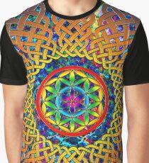 Flower of Life Celtic Mandala Graphic T-Shirt
