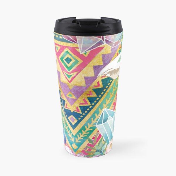 Jewel Boho Alpacas for Makers, Knitters, Crocheters, all crafts. Travel Mug