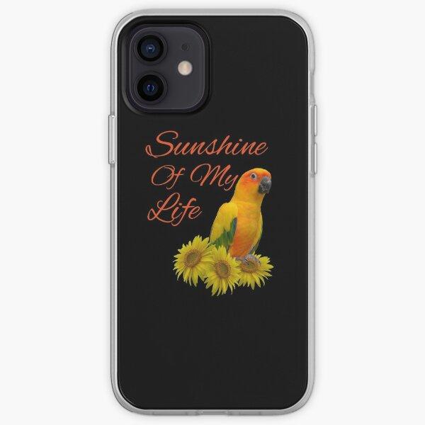 Sun Conure Parrot Sunshine Sunflower iPhone Soft Case