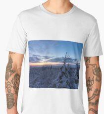 Snow covered landscape Men's Premium T-Shirt