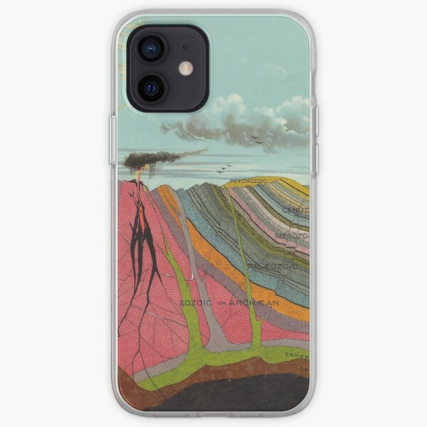 Vintage Geology and Meteorology Diagram (1893) iPhone Soft Case