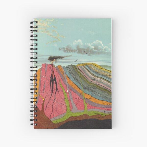 Vintage Geology and Meteorology Diagram (1893) Spiral Notebook