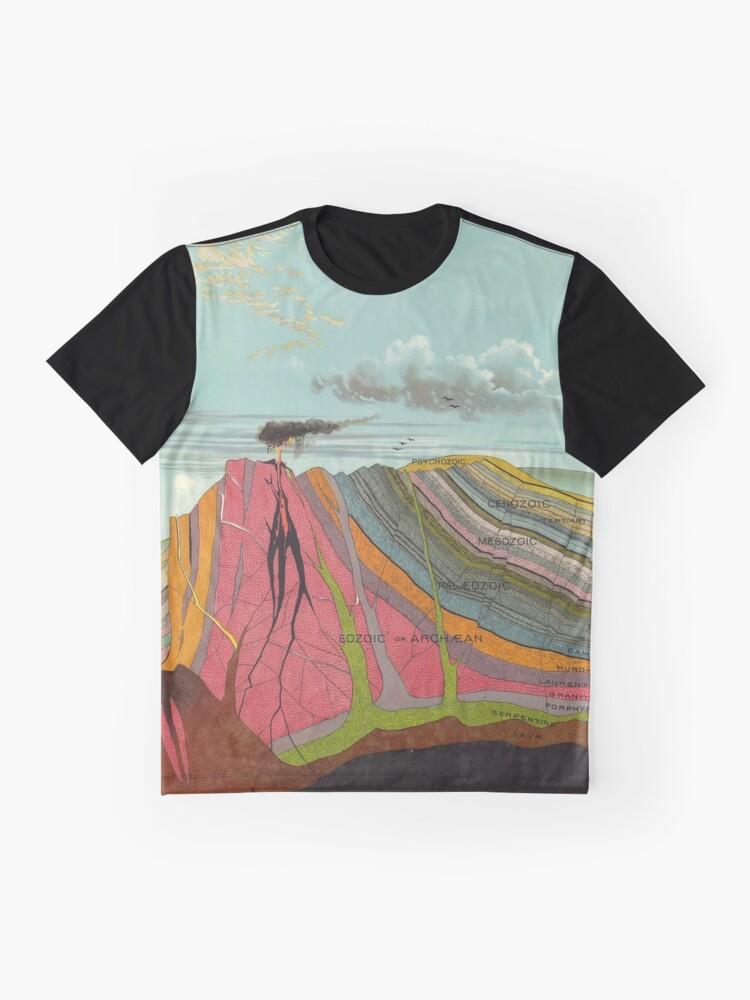 Alternative Ansicht von Vintage Geologie und Meteorologie Diagramm (1893) Grafik T-Shirt